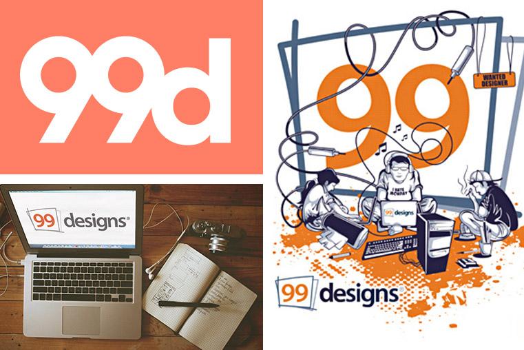 La création de logo avec 99designs.