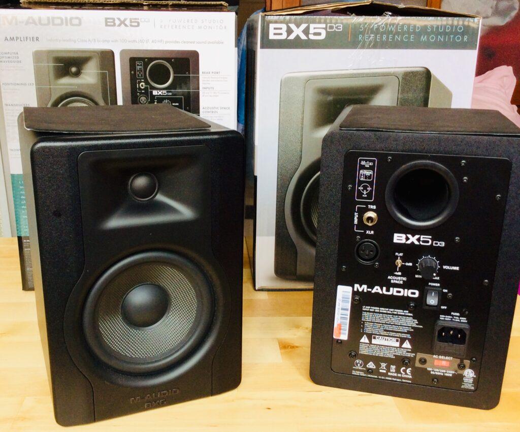 TEST ENCEINTES DJ M-AUDIO BX5 D3